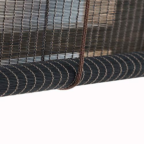 ZHWNGXO Holzrollos, Rollo Bambus Vorhang Teestube Pavillon Terrasse Garten Sonnenschirm Sonnenschirm (Size : 130×220cm)