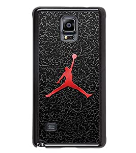Fuson Premium 2D Back Case Cover Man with football With Multi Background Degined For Samsung Galaxy Note 4 N910::Samsung Galaxy Note 4 Duos N9100