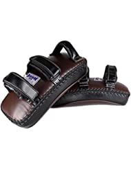 Boon Muay Thai pattes d'ours, cuir, Premium, Curved, Velcro, cuir, Pads