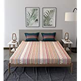 Trident Comfort Living 100% Cotton Double Bedsheet with 2 Pillow Covers Ayana RED