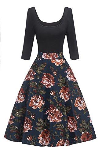 Damen elegant 80er jahre kleidung damen Kleid FS2727 -