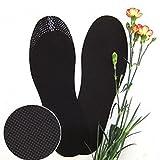 3Paar Unisex Gesunde Bambuskohle Einlegesohle Deo Kissen Fuß Einsätze Schuh Pads zuschneidbar dünn den Einlagen Trimable Fensterrollos