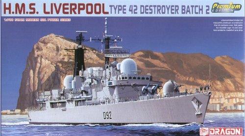 Dickie-Tamiya Dragon 500777069 - Zerstörer HMS Liverpool, Type 42, Royal Navy -