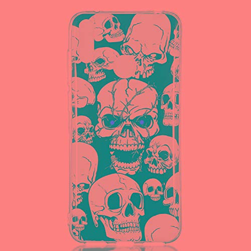 Anti-Drop Für Huawei y7 pro rote Augen Geister Muster nachtleuchtende TPU Soft case Protect Mobile Phone (Tear Drops Augen)