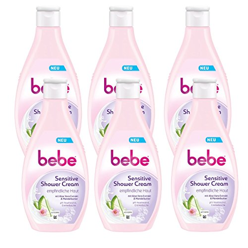 bebe Sensitive Shower Cream, 6er Pack (6 x 250 ml)