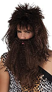 Brown caveman wig and beard (peluca)