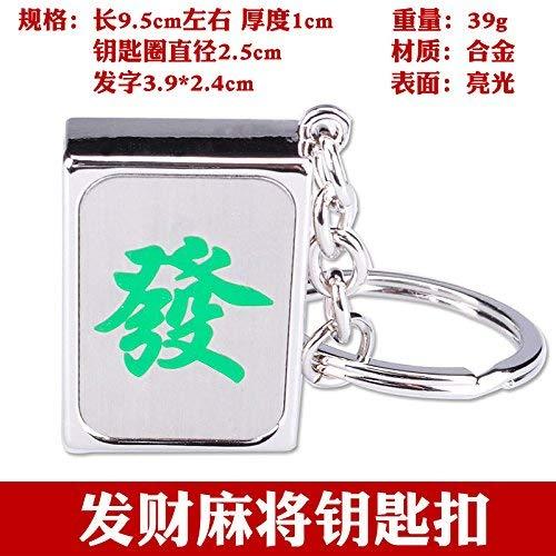 FMEZY Fortune Mahjong Schlüsselbund dreidimensional viel Glück zum Schlüsselring Schlüsselanhänger kreative einfache kleine giftPendant Haar, Mahjong Schlüsselbund -