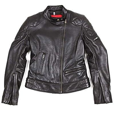 HELSTONS KS 70 - Blouson moto Cuir Noir pour Femme
