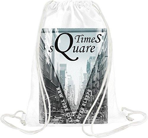Times Square New York Drawstring bag