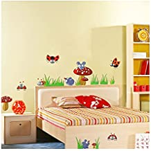 UberLyfe Colorful Mushroom Mania Wall Sticker Size 3 (Wall Covering Area: 50cm x 170cm) - WS-1132