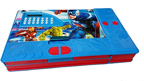 Dhinchak stores Big Jumbo Calculator Style one Boy Print (A) Geometry Box with Both Side Magnetic Compartment (Multicolour)