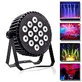 U`King Bühnenlicht Par LED Scheinwerfer, Partylicht Sound-aktiv und DMX512 Steuerung RGBW Aluminiumgleichlichter für DJ Bar KTV Show Nachtklub Partei (14 LEDs)