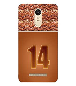 PrintDhaba Numerology Number 14 D-3647 Back Case Cover for XIAOMI REDMI NOTE 3 (MEDIATEK) (Multi-Coloured)