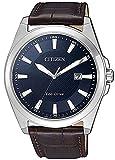 Citizen Herren Analog Quarz Uhr mit Leder Armband BM7108-22L