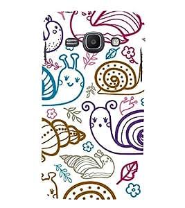 PrintVisa Designer Back Case Cover for Samsung Galaxy Ace 3 :: Samsung Galaxy Ace 3 S7272 Duos :: Samsung Galaxy Ace 3 3G S7270 :: Samsung Galaxy Ace 3 Lte S7275 (Accessories Ethnic art silk pattern)