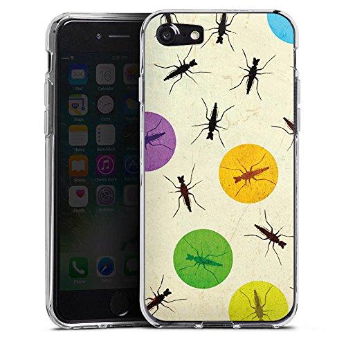 Apple iPhone X Silikon Hülle Case Schutzhülle Mücke Käfer Punkte Silikon Case transparent