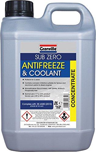 Granville 222q Sub-Zero Anti-Freeze 2L, color azul