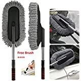 Getko With Device Microfiber Flexible Car Cleaning Duster Car Wash Dust Wax Mop Car Washing Brush