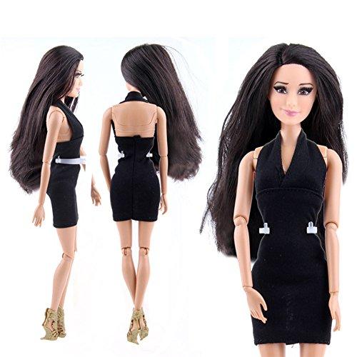 Zantec Art und Weise klassische nette Prinzessin kurzes Abend Partei Kleid fuer Barbie (Jahre Kostüme 80er Familie)