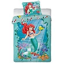 Diseño de princesas de Disney Ariel juego de cama funda nórdica de 160 x 200