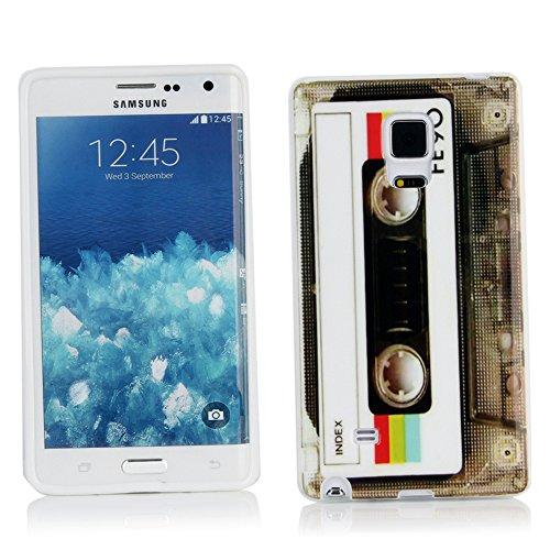 Kit Me Out ES Funda de gel TPU decorado en molde para Samsung Galaxy Note Edge - Multicolor Casete vintage / retro