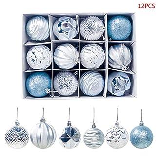Kafen – Bolas de Navidad (12 Unidades, 6 cm), diseño navideño