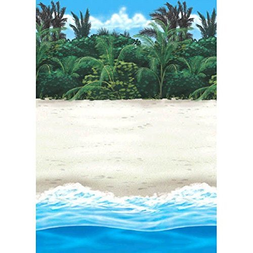amscan International Scene Setter Bambus-Rolle, im Hawaiistil.
