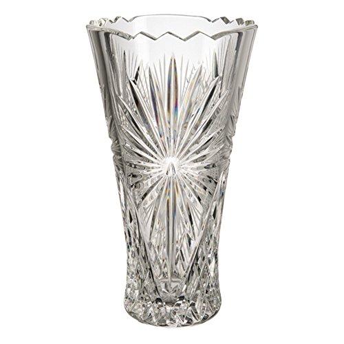 Cristal de Bohemia Böhmischen Glas Vase, Glas, 13x 13x 25cm