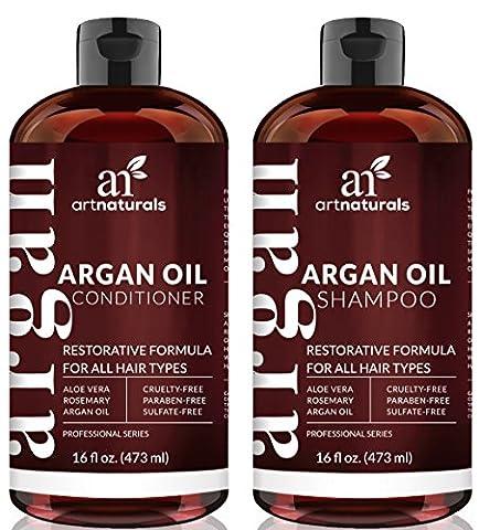 ArtNaturals Arganöl Shampoo und Conditioner Set - Komplette Tägliche Pflege - Sulfat-frei - je 473 ml
