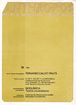 Fernando Calvet Prats. Bioquímica de [VV.AA.]