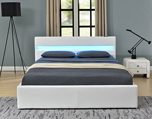 Romero Led Music Bed With Bluetooth Speakers Ottoman