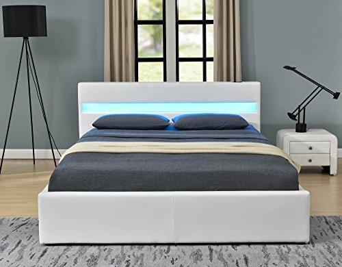 Letto alla turca Romero Music Bed, con LED, Bluetooth, altoparlanti ...