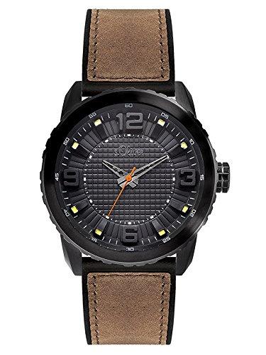 s.Oliver Herren-Armbanduhr XL Analog Quarz Kautschuk SO-3038-PQ