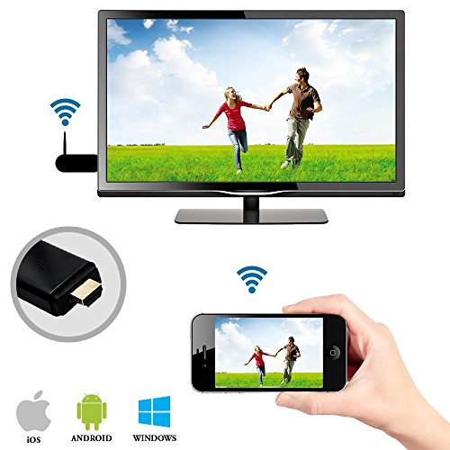 Madsbag Wireless TV Dongle Miracast Airplay Wifi HDMI Display For iOS, Windows, Android