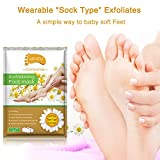 2 Pairs Foot Peeling Mask, Camomile Scented Exfoliating Callus Peel Booties, Baby Your Foot Naturally in 1 Week (Camomile) Vergleich