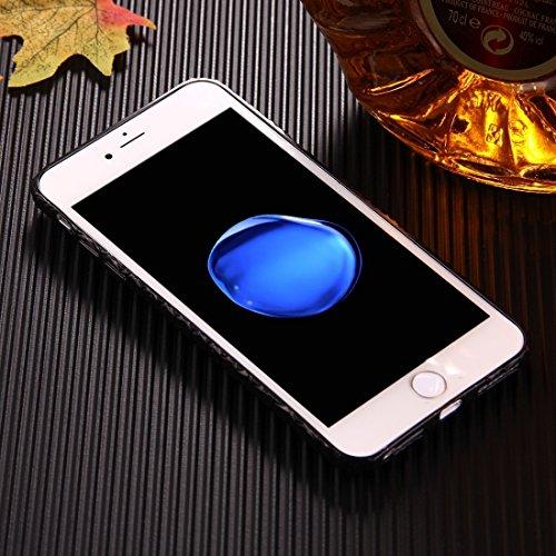 Wkae Geprägte Schwanmuster Galvanotechnik TPU Schutzhülle für iPhone 6s Plus ( Color : Black ) Black