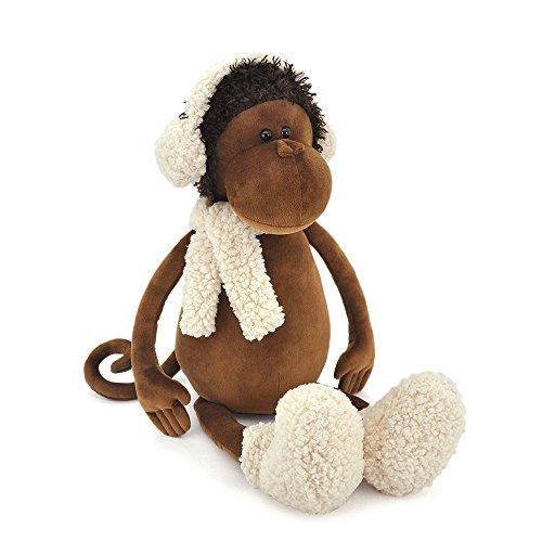 Plüsch Affe Valerie die Affenmädchen mit Ohrenwärmer, Shal und Winterboots, ca. 35 cm, Plüschtier Stofftier - In Geschenkbox !!!