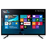 TV NPG TVS518L43U avec écran LCD rétroéclairé LED avec écran 43 pouces avec résolution UHD 4K de 3840 x 2160 pixels avec HDR 10, SMART TV Android 6.0 avec processeur dual-core CA9 à 1.0GHz, contrôleur graphique Mali-400MP2, 8 Go de mémoire RAM intern...