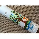 Taufkerze mit Lebensbaum / Baum und Fuchs - inkl. Beschriftung von Babyprince - handgearbeitete Wachsverzierungen - !!! keine Folie !!!