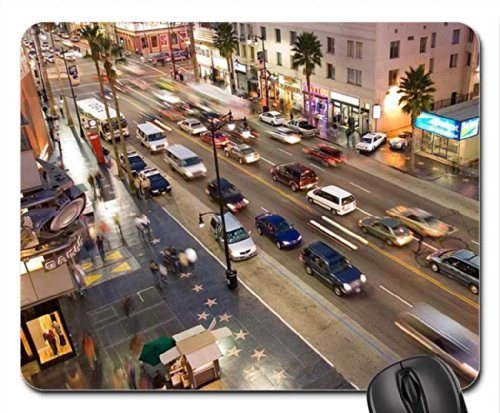 hollywood-boulevard-from-kodak-theatre-mouse-pad-mousepad