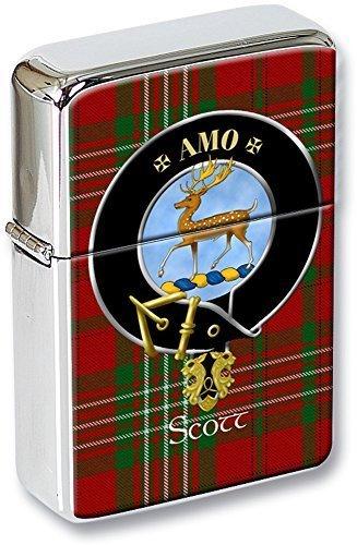 Scott schottische Clan Wappen Klappfeuerzeug in einer Geschenkdose (Scotts Liquid)