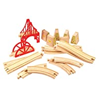 Bigjigs Rail Bridge Expansion Set - Wooden Track Expansion Packs