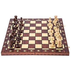SQUARE GAME Ajedrez de Madera - AMBASADOR Lux - 52 x 52 cm - Piezas de ajedrez & Tablero de ajedrez 5