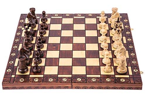 Ajedrez de madera - AMBASADOR LUX - 52 x 52 cm -...