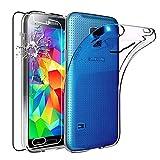 ebestStar - Cover Compatibile con Samsung S5 G900F, Galaxy S5 New G903F Neo Custodia Trasparente Silicone Gel Morbida Sottile, Trasparente + Vetro Temperato [Apparecchio: 142x72.5x8.1mm 5.1'']
