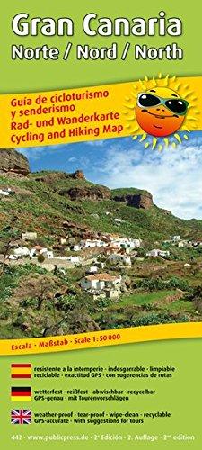 Gran Canaria Norte /Nord /North: Rad- und Wanderkarte, wetterfest, reissfest, abwischbar, GPS-genau, mit Tourenvorschlägen. 1:50000 (Rad- und Wanderkarte / RuWK)