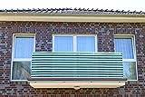 Jinju Dunkelgrün&Weiß 0,9 x 8 meter Breit PE Balkonsichtschutz, Balkonverkleidung, Windschutz, Sichtschutz und UV-Schutz für Balkon, Gartenanlagen, Camping und Freizeit (0,9 x 8 meter)