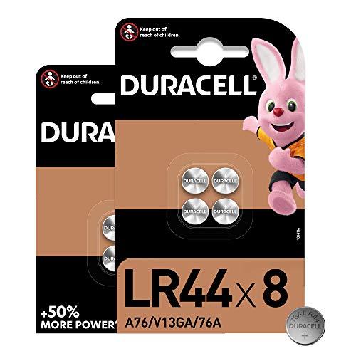 Oferta de Duracell - Pilas especiales alcalinas de botón LR44 de 1,5 V, paquete de 8 unidades (76A/A76/V13GA) diseñadas para su uso en juguetes, calculadoras y dispositivos de medición