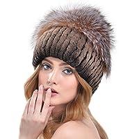 OLLEBOBO Vera Pelliccia Coniglio Cappello da Donna Berretto con Grande