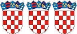 Michael & Rene Pflüger Barmstedt - Mini Premium Aufkleber Kroatien Wappen Croatia Sticker Auto Fahrrad Motorrad auch für Dampfer E-Zigarette Sisha